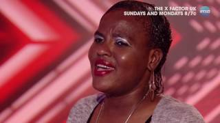 Abiola Allicock Gives the Judges the Giggles - The X Factor UK on AXS TV