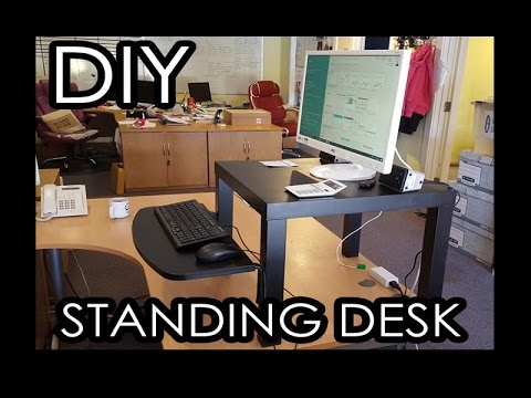 World's cheapest Standing Desk (ikea hack)