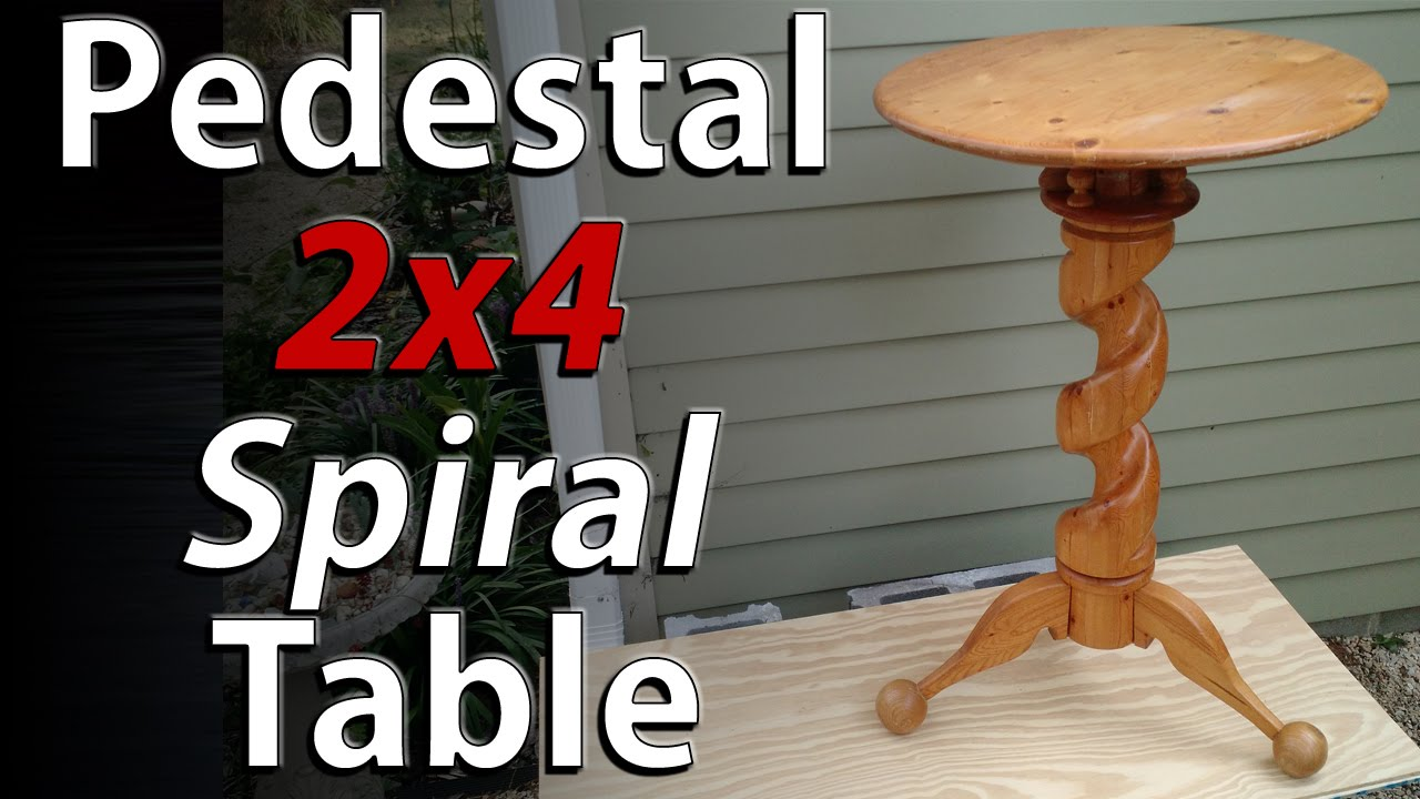 Diy Table 2x4 Challenge Spiral Pedestal Wood Table