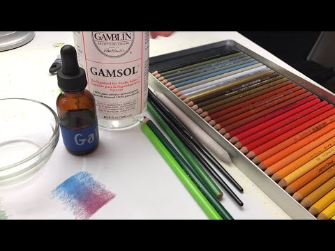Live - blending colored pencils with Gamsol