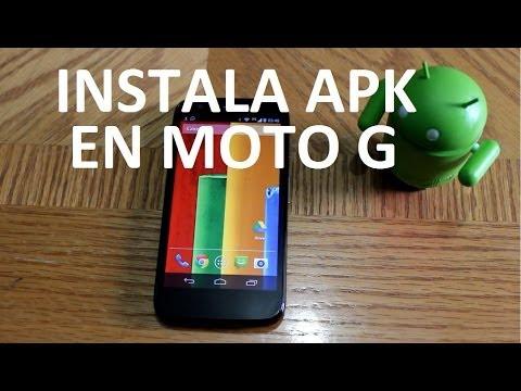 Tutorial Instalar Aplicaciones APK en Motorola Moto G