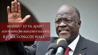 Download Video mambo 10 ya ajabu aliyofanya Raisi John Pombe MAGUFULI/10 AMANZING THINGS MAGUFULI DID MP3 3GP MP4