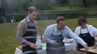 Prince William and Prime Minister Key - BBQ