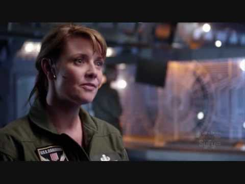 Jack O'Neill and Samantha Carter on Stargate Universe, first episode.