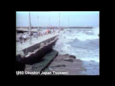 Historical tsunami in Okushiri, Japan on July 12, 1993