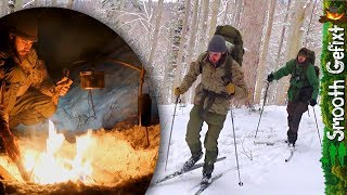 Bushcraft Camping on a Winterday! - Ski