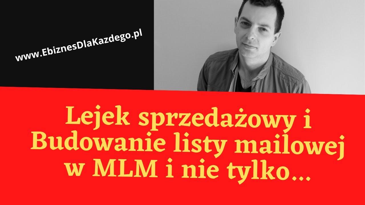 Lejek sprzedażowy i Budowanie listy mailowej  w MLM i nie tylko...