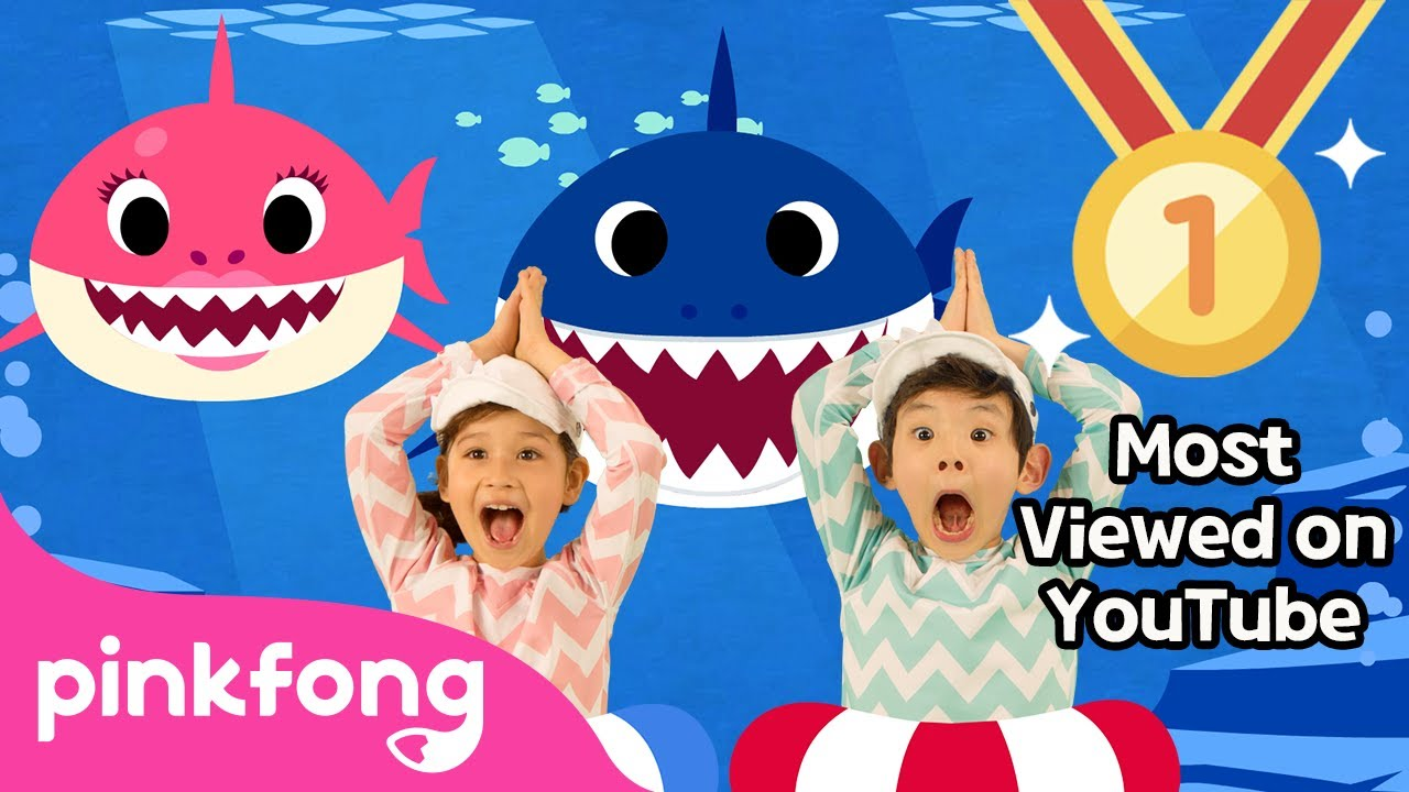 Baby Shark Dance Most Viewed Video On Youtube Pinkfong Songs For Children Youtube