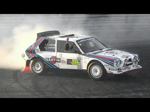 Audi Quattro Vs Lancia Delta S4 Doing Burnouts & Donuts!! - Monza Rally Show 2015