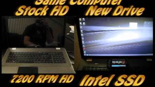 Intel Solid State Drive SSD vs 7200 RPM Seagate Hard Drive - HP Envy 17 3D