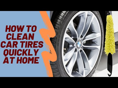 Car Wheel Wash Brush - how to clean car tires quickly at home