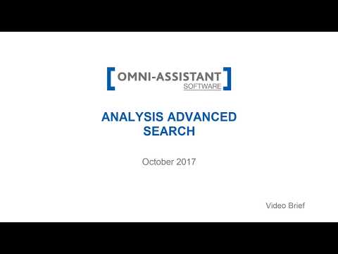 M13 - Analysis Advanced Search - v.9.11.20 - Omni-Assistant Software