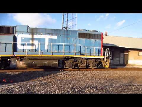 Grand Trunk Western GP38-2 moving through Schoolcraft, Michigan.