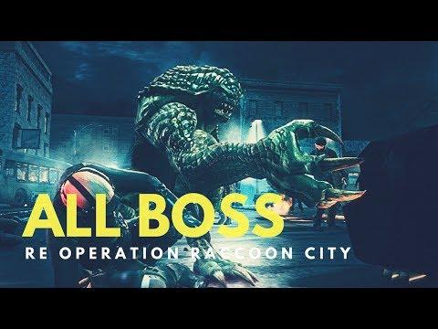 Resident Evil: Operation Raccoon City ALL Bosses HD