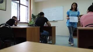 Russian language lesson for Egyptians in Pyatigorsk University held by Larisa Murnaeva