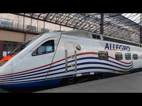 """Скоростной поезд """"Аллегро"""" СПБ-Хельсинки, весь путь"""
