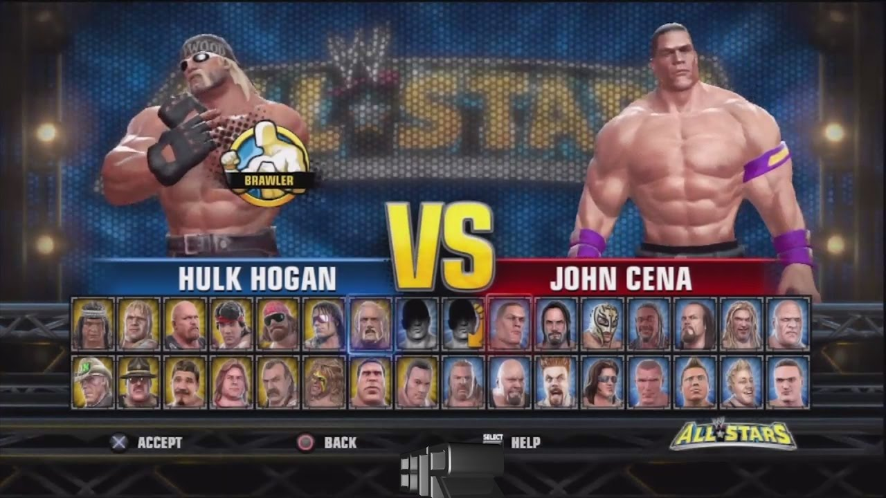 20fa0be5b0b2 WWE All Stars Character Select Screen Including All DLC Packs Roster ...