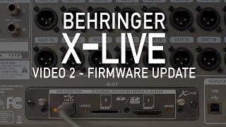 Behringer X-Live - Video 2 - X-Live Firmware Update