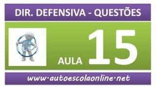 AULA 80 PROVA SIMULADA DIREÇÃO DEFENSIVA - CURSO DE LEGISLAÇÃO DE TRÂNSITO EM AUTO ESCOLA