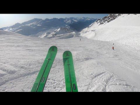 Skiing 1,350m Descent - St Anton, Austria
