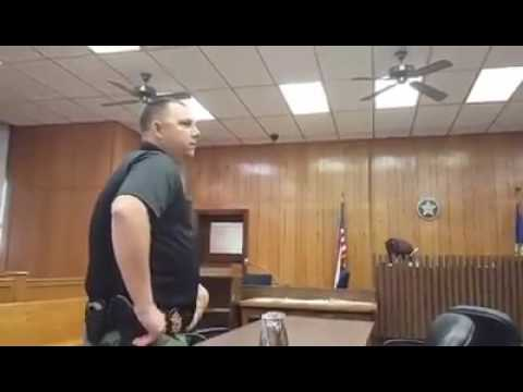 Man arrested for contempt in court... then resists arrest and gets tazed!