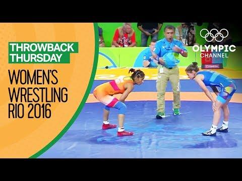 Vinesh Phogat vs Emilia Vuc - Women's Wrestling Rio 2016    Throwback Thursday