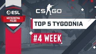TOP 5 Akcji CS:GO | ESL Mistrzostwa Polski Wiosna 2019 - #4 Tydzień