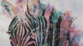 Acrylic Animals on Gelli Plate