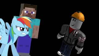 Minecraft vs Roblox vs MLP (animação)