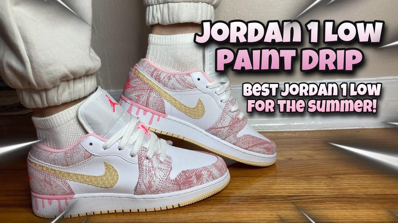 Air Jordan 1 Mid SE GS 'Paint Drip'