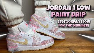 EARLY REVIEW! Jordan 1 Low Paint Drip (GS)! On Feet Look & Resell Predictions!