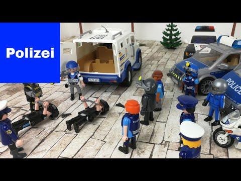 Playmobil Polizei Feuerwehr Krankenwagen - die falschen Polizisten Überfall auf den Geldtransporter