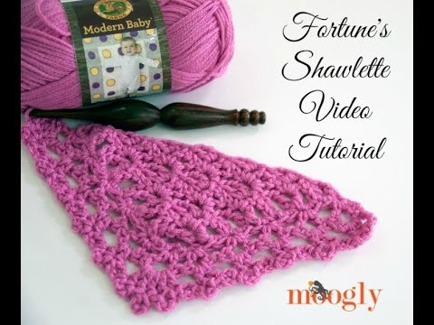 How to Crochet: Fortune's Shawlette (Right Handed)