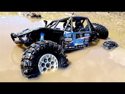 RC ADVENTURES - Swimming in Chocolate Milk MUD - 1/10th Scale Electric 4x4 - Axial BOMBER
