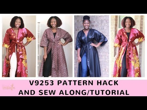 How to sew a Kimono Duster from Vogue 9253 Tutorial and Pattern Hack