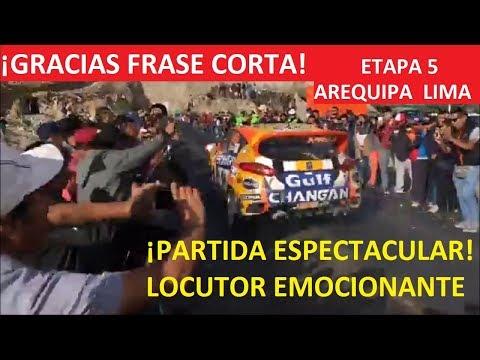 RALLY CAMINOS DEL INCA 2018 ¡ESPECTACULAR PARTIDA CARRERA DE AUTOS LOCUCION MAGNIFICO
