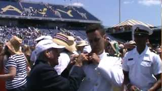 Navy WWII Vet First Salute to Grandson
