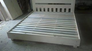 видео кровать двуспальная кровать с матрасом