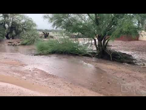 07-25-21 Tucson, AZ-Green Valley area is still being inundated with several inches of rain, flash fl