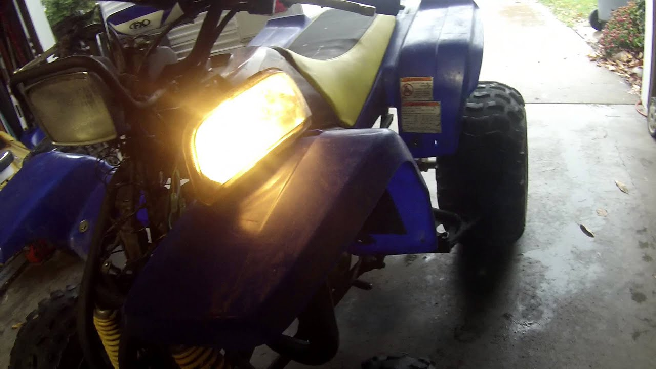 maxresdefault yamaha blaster headlight 2 youtube 1993 yamaha blaster headlight wiring diagram at eliteediting.co
