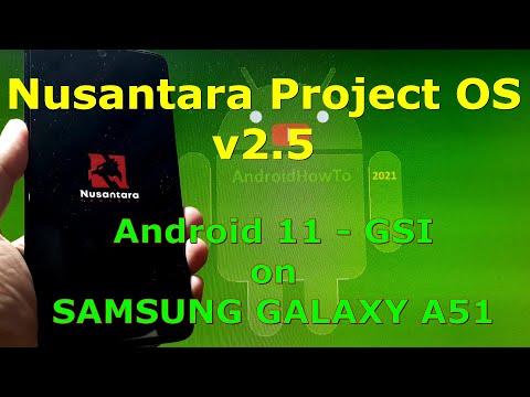 Nusantara Project OS v2.5 Android 11 for Samsung Galaxy A51