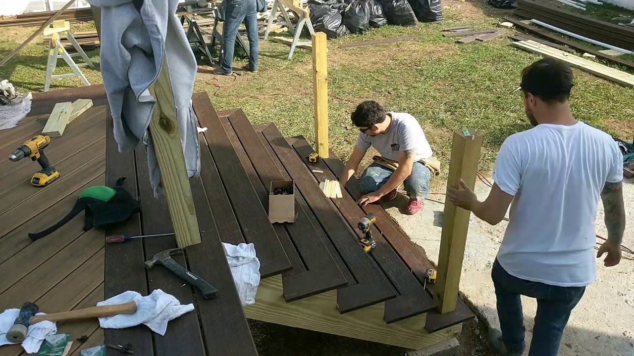 Trex Deck Stairs Home Improvement Vlog 12 Youtube | Composite Exterior Stair Treads | Blocking | Indoor | Deck Trex | Picture Framing | Patio