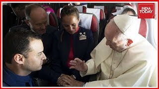 Pope Francis Marries Flight Attendant Couple On-Board Chile Plane | World News