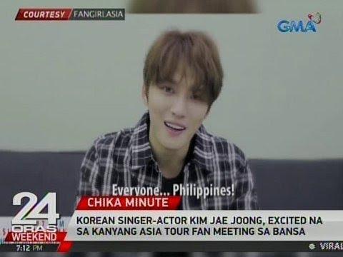 24 Oras: Korean singer-actor Kim Jae Joong, excited na sa kanyang Asia tour fan meeting sa bansa