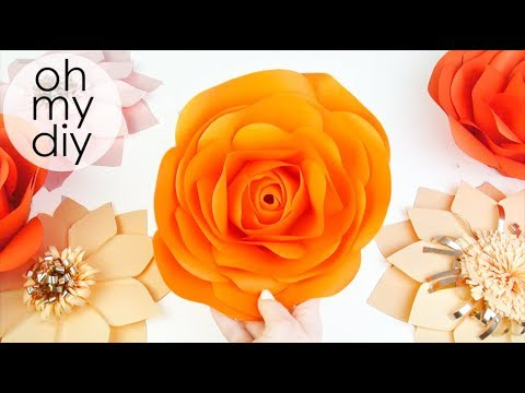 Diy Rose Tutorial Large Size Paper Rose How To Make Realistic And Easy Paper Roses