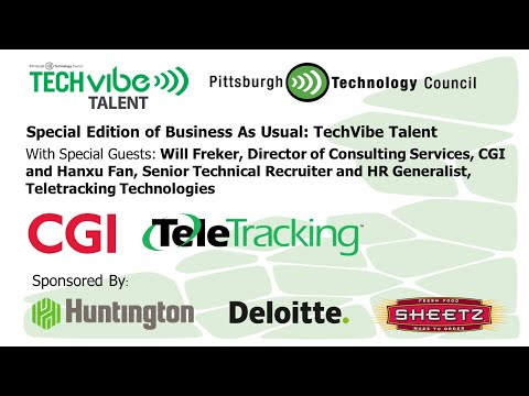 """Business as Usual """"Special Edition"""" TechVibe Talent with CGI & Teletracking Technologies"""