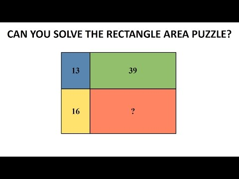 The Rectangle Area Puzzle - The Trick To Solve Without Formulas