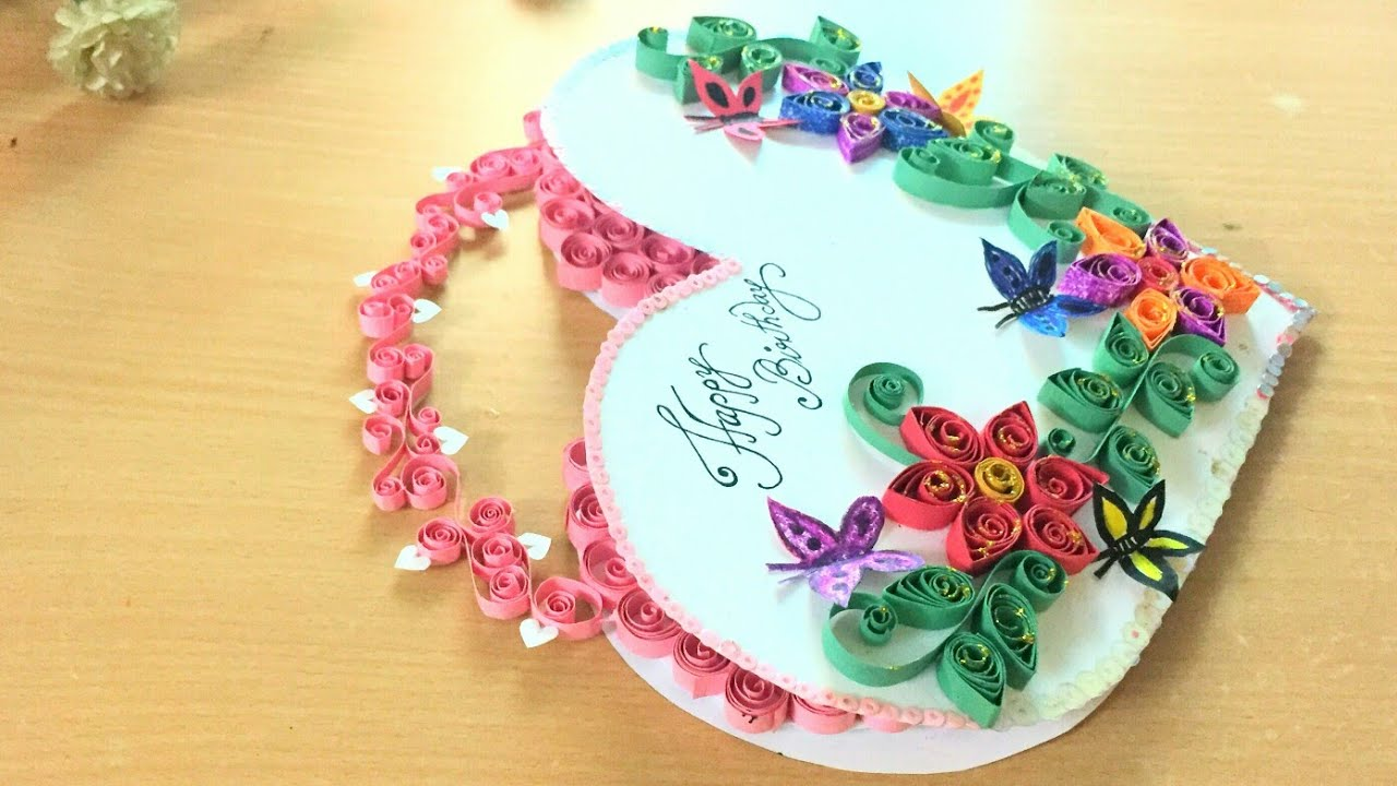 Quilling Heart Shape Greeting Card