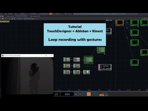 Tutorial - TouchDesigner + Ableton + Kinect - How to play music with gestures pt 2 (Loop recording) thumbnail