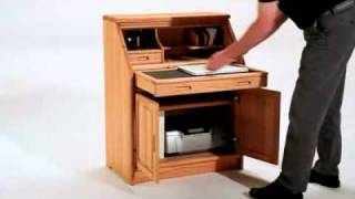 Furniture Review: 5152z Contemporary Wooden Secretary Desk By Dyrlund